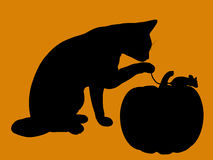 Halloween Illustration silhouette Stock Images