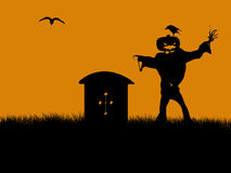 Halloween Illustration silhouette Royalty Free Stock Photo