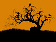Halloween Illustration silhouette Stock Image