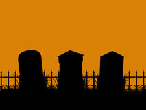Halloween Illustration silhouette Royalty Free Stock Photography