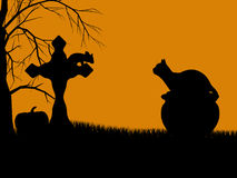 Halloween Illustration silhouette Royalty Free Stock Photos