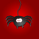 Halloween Illustration of a spider Stock Image