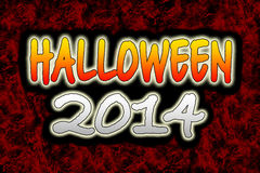 Halloween 2014. Illustration of halloween 2014 title on a grunge background Royalty Free Stock Photos