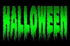 Halloween. Illustration of halloween title isolated on black Royalty Free Illustration