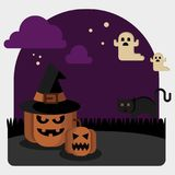 Halloween illustration vector Stock Images