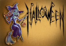 Halloween illustration of a witch Stock Image