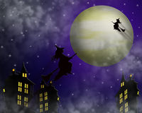 Halloween Illustration Witches stock image