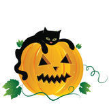 halloween illustrationplats Royaltyfria Bilder