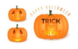 halloween illustrationpumpor ställde in vektorn vektor illustrationer