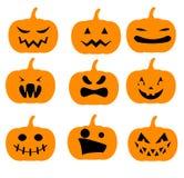 halloween illustrationpumpor ställde in vektorn Arkivfoton
