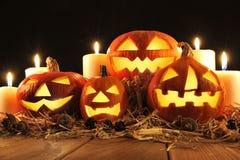 halloween illustrationpumpor ställde in vektorn Royaltyfria Foton