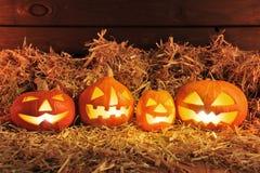halloween illustrationpumpor ställde in vektorn Arkivfoto