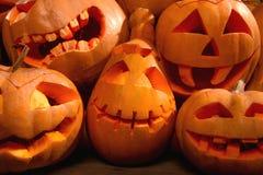 halloween illustrationpumpor ställde in vektorn Arkivbilder