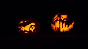 halloween illustrationpumpor ställde in vektorn Royaltyfria Bilder