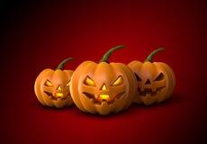 halloween illustrationpumpor ställde in vektorn Jack Lanterns royaltyfri illustrationer