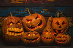 halloween illustrationpumpor ställde in vektorn Arkivbild