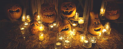 halloween illustrationpumpor ställde in vektorn Royaltyfri Foto