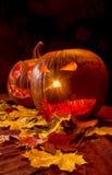 halloween illustrationpumpor ställde in vektorn Royaltyfri Fotografi