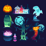 Halloween illustrations Royalty Free Stock Photos