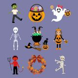 Halloween illustrations set Royalty Free Stock Photo