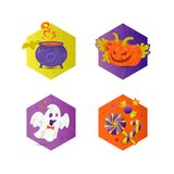 Halloween illustrations set Stock Images