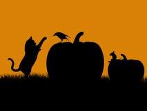 halloween illustrationsilhouette Arkivbilder
