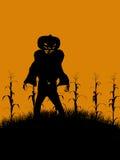 halloween illustrationsilhouette Arkivbild