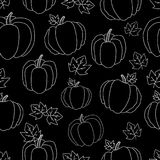 Halloween Ilustração com abóboras Textura lisa, sem emenda com abóboras de Dia das Bruxas Útil como o fundo, para cartão, cartões Foto de Stock