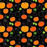 Halloween Ilustração com abóboras Textura lisa, sem emenda com abóboras de Dia das Bruxas Útil como o fundo, para cartão, cartões Imagens de Stock Royalty Free