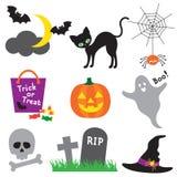 halloween ilustraci set royalty ilustracja