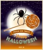 halloween ilustracyjna księżyc noc Obraz Royalty Free