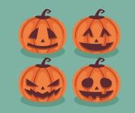 halloween ilustracyjne dynie zestaw wektora Fotografia Stock