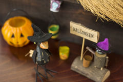 Halloween image with crow and Jack o lantern Royalty Free Stock Photography