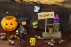 Halloween image with crow and Jack o lantern Stock Image