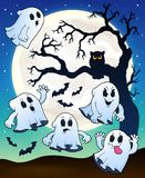 Halloween image with ghosts theme 2 Stock Photography