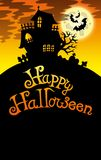 Halloween image with old house 2 Royalty Free Stock Image
