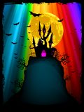 Halloween image with old mansion. EPS 8 Royalty Free Stock Images