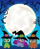 Halloween image with owls theme 4 Stock Images