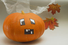 Halloween. Image of pumpkin with funny face Royalty Free Stock Photography