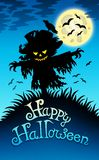Halloween image with scarecrow Stock Photo