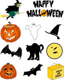 Halloween Images. A page full of popular Halloween images ready for fall promotions or greeting cards Stock Image