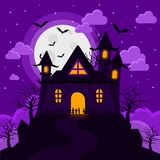 Halloween images castle strange tower Stock Images