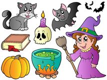 Halloween images collection vector illustration