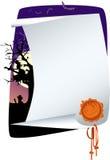 halloween inbjudan Royaltyfria Foton
