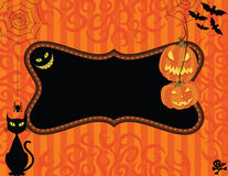 halloween inbjudan Royaltyfri Bild
