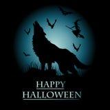 Halloween inbjudankort Royaltyfri Bild