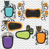 Halloween incornicia l'invito Immagine Stock