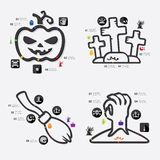 Halloween infographic Royalty Free Stock Photography