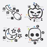 Halloween infographic Stock Images