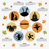 Halloween infographic template Royalty Free Stock Images